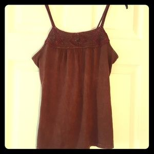 Brown knited tank
